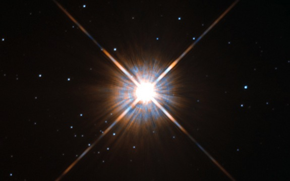 An actual photo of Proxima Centauri from the Hubble Space Telescope